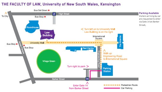 UNSW Law Kensington Map